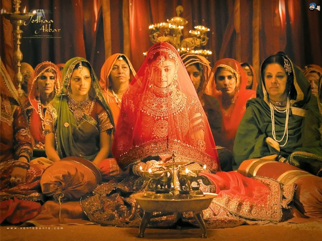 Jodha bai (Aishwarya rai) during the song Khwaja Mere Khwaja from Jodha Akbar.