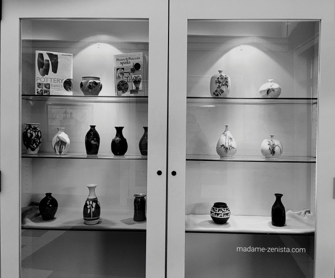 Urns and vases. black and white, photography, monochromes, B&W,