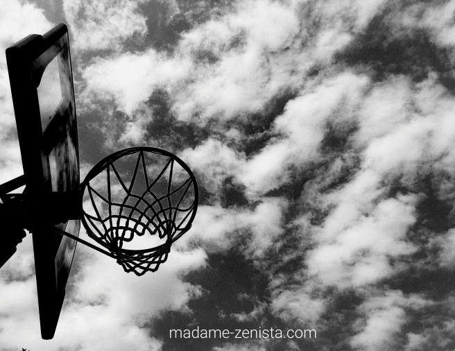 basketball, basekt, sky, black and white, photography, monochromes, B&W,