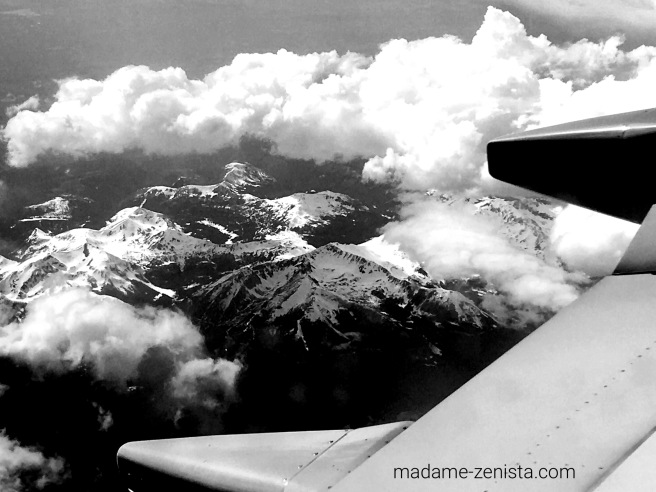 Black and white, B&W, Monochromes, Photography, iPhone, rockies, colorado, view, plane, mountains.