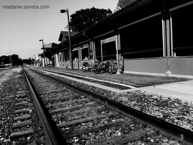 Train tracks, Black and white, B&W, Monochromes, Photography, iPhone, train, tracks,