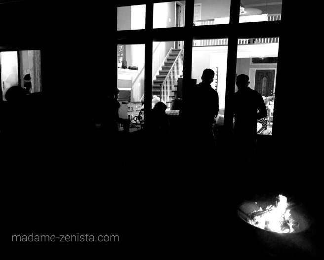 Bonfire sillhouette, Black and white, B&W, Monochromes, Photography, iPhone,