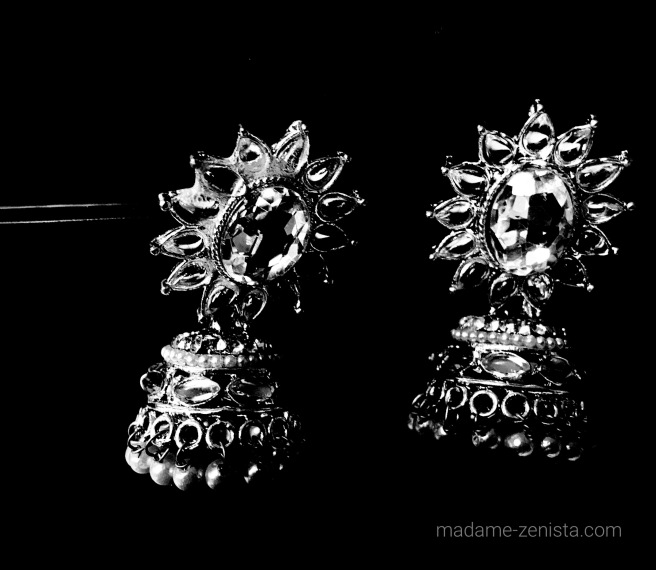 Black and white photography, monochrome, iphone, pictures, b&w, BnW, Jewelry, art, artsy, jhumka, earrings, indian