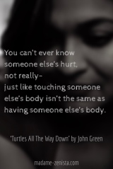 Quote from 'Turtles All The Way Down' by John Green